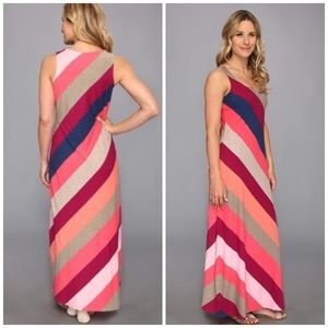 Tommy Bahama Pearl Stripe Maxi Dress Cherry Pink